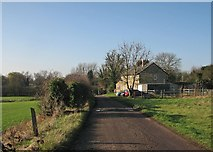 TL4352 : Cottages near Hauxton Mill by John Sutton
