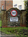 TM1178 : Palgrave Village Name sign on Denmark Hill by Adrian Cable