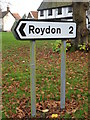 TM1178 : Roadsign on Priory Road by Geographer