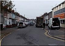 SU1585 : West along Beatrice Street, Swindon by Jaggery