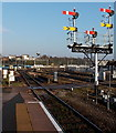SO8555 : Junction north of  Worcester Shrub Hill railway station by Jaggery