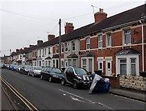 SU1585 : South along Florence Street, Swindon by Jaggery