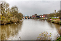 SO8454 : River Severn at Worcester by David P Howard