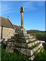 SO4505 : Mediaeval stone calvary, St. Govan's church, Llangovan by Ruth Sharville
