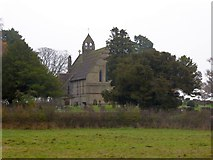 SJ4332 : Colemere church and churchyard by David Smith