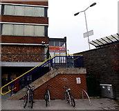 SU1585 : Cross Street Cars booking office, Swindon by Jaggery