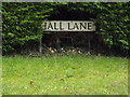 TM1992 : Hall Lane sign by Adrian Cable