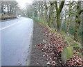 SE1510 : Honley / Holmfirth boundary stone, Woodhead Road by Humphrey Bolton