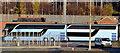 J3775 : André Rieu-liveried coaches, George Best Belfast City Airport (December 2014) by Albert Bridge