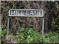 TM2289 : Mill Lane sign by Adrian Cable