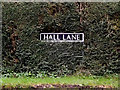 TM2289 : Hall Lane sign by Adrian Cable