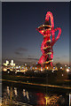 TQ3784 : The ArcelorMittal Orbit at night by Oast House Archive