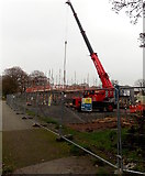 SU1585 : New pavilion being built in St Mark's Recreation Ground, Swindon by Jaggery