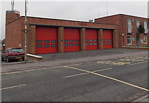 SU5290 : Didcot Fire Station doors by Jaggery