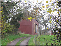 SJ5444 : The red barn at Wood Farm by Stephen Craven