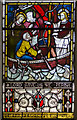 TQ6404 : Detail of East window, St Nicholas' church, Pevensey by Julian P Guffogg