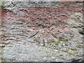 NY3259 : Ordnance Survey Cut Mark with Bolt by Peter Wood
