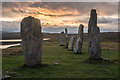NB2133 : Near sunset at the Calanais Standing stones by Doug Lee
