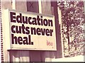 TQ3175 : Education cuts never heal by Dave Pickersgill
