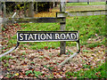 TM2084 : Station Road sign by Adrian Cable