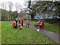 SH7956 : Santa blows his trumpet by Richard Hoare