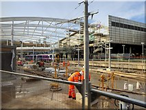 SJ8499 : Manchester Victoria Station Refurbishment, December 2014 by David Dixon
