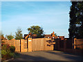 SP0674 : Gates to a large property, Brockhill Lane by Robin Stott