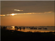 TL5392 : Sunset - The Ouse Washes near Welney by Richard Humphrey