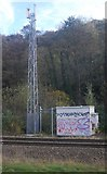 SK3281 : Telecom mast near Dore and Totley Station by N Chadwick