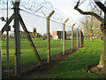 TG0018 : Security fence surrounding Robertson Barracks by Evelyn Simak