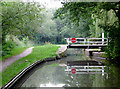 SJ9170 : Broadhurst Swing Bridge south of Macclesfield, Cheshire by Roger  Kidd