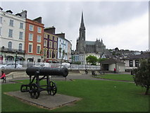 W7966 : Cobh - Town centre & view to St Colman's Cathedral by Colin Park