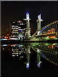 SJ8097 : Lowry (Millennium) Bridge by David Dixon