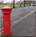 SO7847 : Back of a Victorian fluted pillarbox, Malvern Link by Jaggery