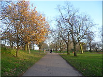TQ3187 : Path in Finsbury Park by Marathon