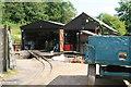SO5709 : Perrygrove Railway - locomotive sheds by Chris Allen