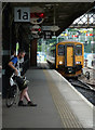 """SO8555 : Worcester Shrub Hill Station - """"The train now arriving.."""" by Chris Allen"""