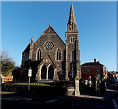 ST8026 : West side of Gillingham Methodist Church by Jaggery