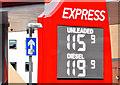 J3373 : Fuel price sign, Belfast (14 December 2014) by Albert Bridge