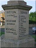 TF6101 : Names on Denver War Memorial by Hugh Venables