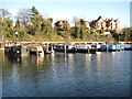 SO8553 : Barges and narrowboats in Diglis Basin by Philip Halling