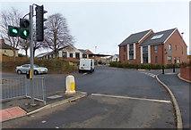 SK5802 : Hawkins Road off Saffron Lane by Mat Fascione