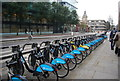 TQ3280 : Cycle hire, Queen Victoria St by N Chadwick