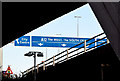 J3474 : Motorway gantry sign, M3, Belfast (December 2014) by Albert Bridge