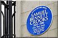 J3374 : Dean Crooks plaque, Belfast (December 2014) by Albert Bridge