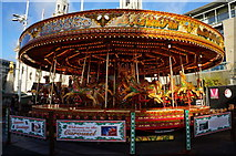 SE2934 : Carousel at Millennium Square, Leeds by Ian S