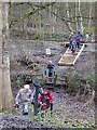 NY9963 : Foot crossing of the railway below Farnley Grange by Oliver Dixon