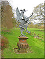 SO7341 : Sculpture at Old Colwall House by Trevor Rickard
