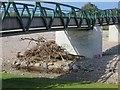 NJ0259 : Flood debris, Moy by Richard Webb