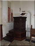 TM3669 : Pulpit of St.Peter's Church by Geographer